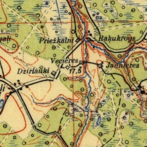Военно-топографическая карта Латвии