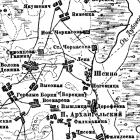 Топографическая карта Рязанской губернии