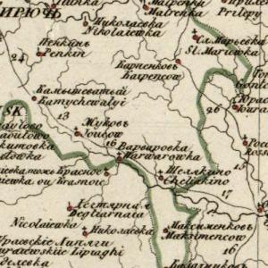 Карты Воронежской губернии из атласов