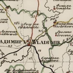 Карты Владимирской губернии