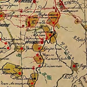 карты Енисейской губернии