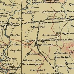 Старинные карты Воронежской губернии