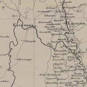 Карты Тамбовской губернии из атласов