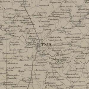 Карты Тульской губернии из атласов