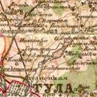 Карта Стрельбицкого Тульской губернии 1865-1871 гг
