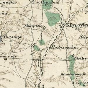 Десятиверстная карта Воронежской губернии