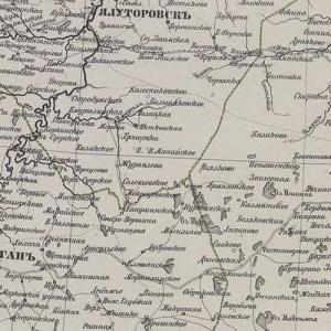 Карты Тобольской губернии из атласов