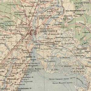Карты Новгородской области Генштаба СССР