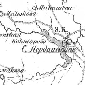 Карта Соликамского уезда