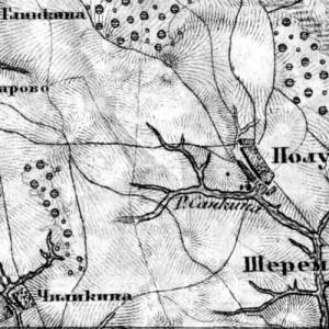 карта шуберта московской губернии 1860
