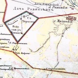 Карта Черноярского уезда