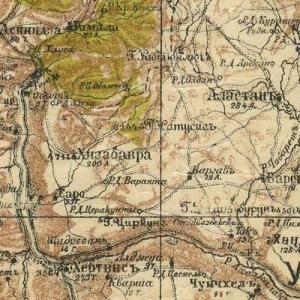 военно-топографическая карта Кавказского края