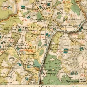 Карта Менде Тверской губернии