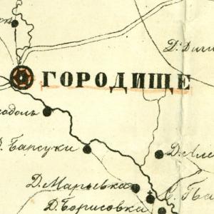 Карты уездов Пензенской губернии