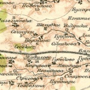 Орловская губерния на картах Стрельбицкого