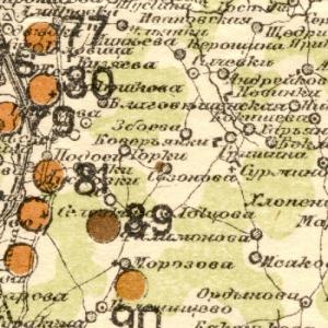 карта Стрельбицкого Ярославской губернии