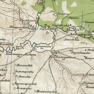 Карта Стрельбицкого Земли Войска Донского