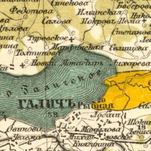 Костромская губерния на картах Стрельбицкого
