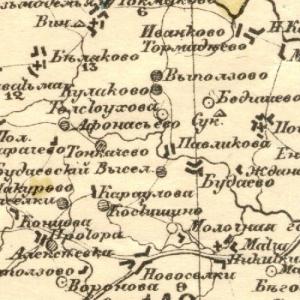 Карта Стрельбицкого Тамбовской губернии