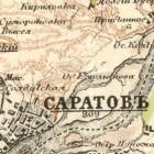Карта Стрельбицкого Саратовской губернии