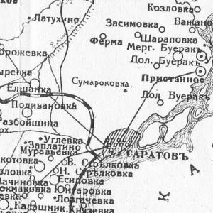 Карты уездов Саратовской губернии