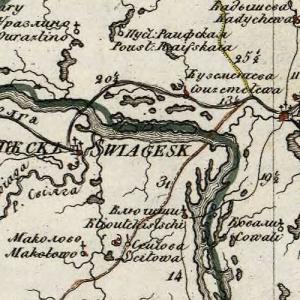 Карты Казанской губернии из атласов