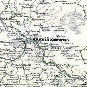 Старые карты Нижегородской губернии