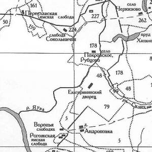 Старая карта Подмосковья