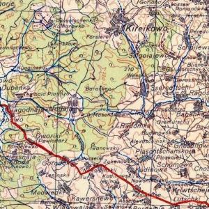 Немецкие карты Калужской области