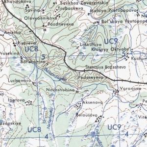 Карта США Сибирского региона