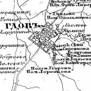 Карта Гдовского уезда