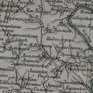 Карты уездов Пермской губернии