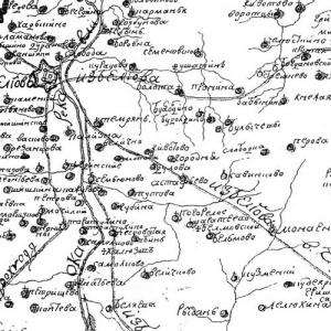 Карты Тульской губернии и ее уездов