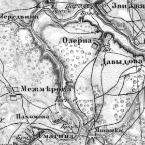 Калужская губерния на картах Шуберта