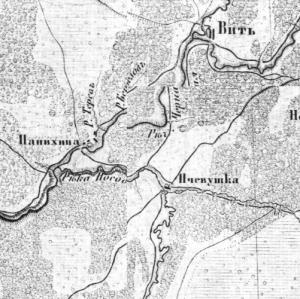 военно-топографическая карта Новгородской губернии