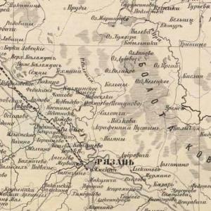 Карты Рязанской губернии из атласов