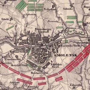 Карты Смоленской губернии и ее уездов