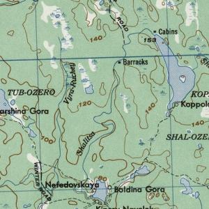 Карты Карелии армии США