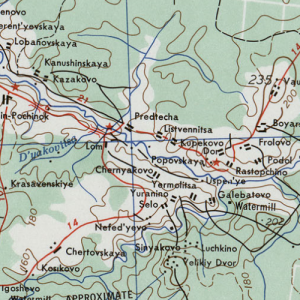 Карты Костромской области армии США