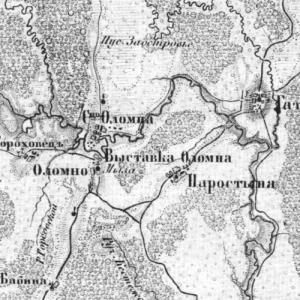 Карта трехверстка Шуберта