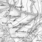 Военно-Топографическая карта Курской губернии